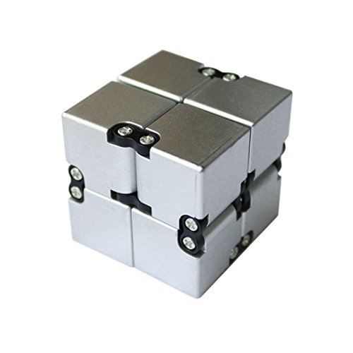 Price comparison product image Fidget Cube in Style With Infinity Cube Pressure Reduction Toy - Luxury Infinity Turn Spin Cube Edc Fidgeting - Killing Time Toys Infinite Cube For ADD, ADHD, Anxiety, and Autism Adult and Children(A)