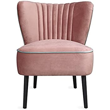Amazon.com: F&G Lula Accent Chair, Velvet Cocktail Chair, Mid ...