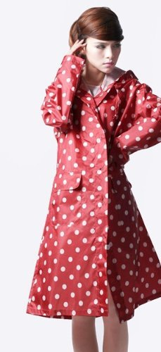 7 Weapons Adults' Raincoat/with Dots (red)