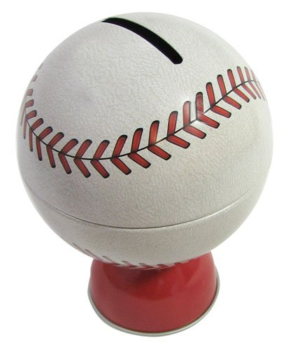 Schylling TBB Tin Baseball Bank product image