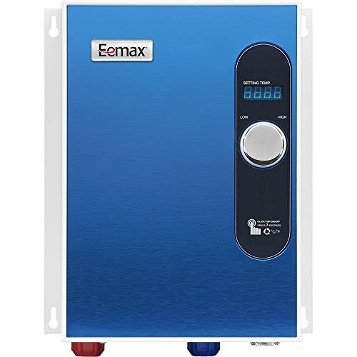 Eemax EEM24018 Electric Tankless Water Heater, Blue (Best Tankless Hot Water Heater 2019)