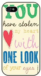 You have stolen my heart with one look of you eyes - Solomen 4:9 - Bible verse iPhone 5 / 5s black plastic case