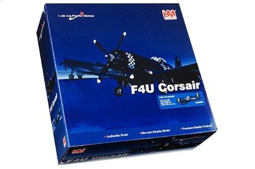 """1:48 ホビーマスター 戦闘機シリーズ HA8206 Vought F4U Corsair ダイキャスト モデル USN VF-84 Wolf Gang """"White 167"""" Roger Hedr"""