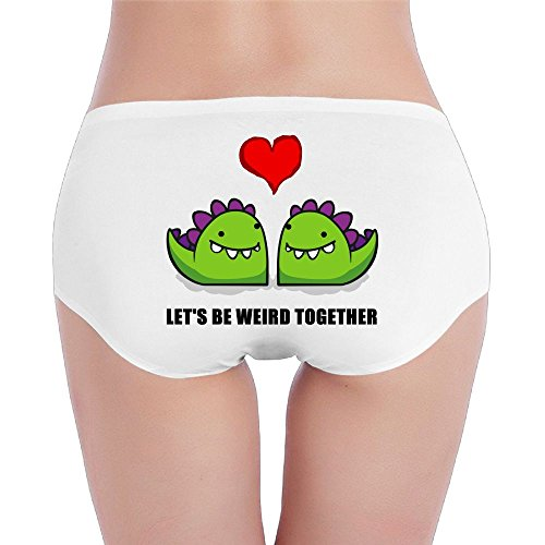 Women's Let's Be Wierd Together Low-Rise Cotton Bikini Brief Panties Underwear (4 Sizes) - Wierd Glasses