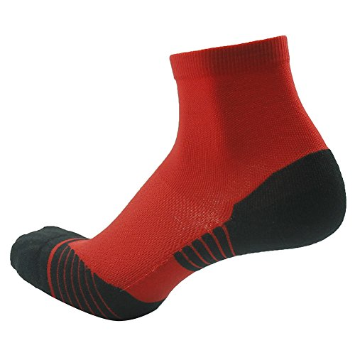 Tennis Compression Socks HUSO Elite Reinforce Support Athletic Ankle Hiking Football Socks for Men 2 Pairs by Huso (Image #6)