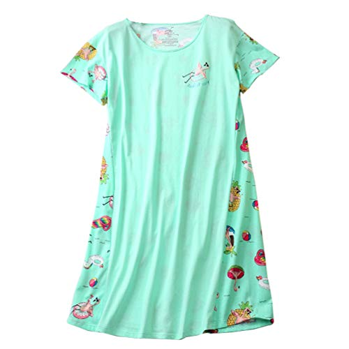 ENJOYNIGHT Womens Cotton Sleepwear Short Sleeves Print Sleepshirt Sleep Tee (Colors, L/XL)