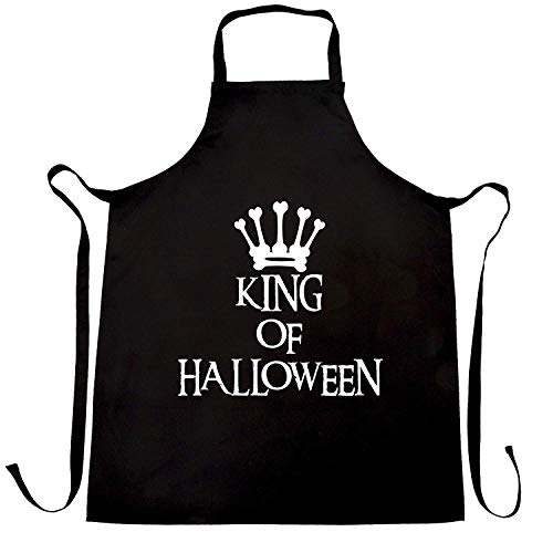 WEGOOAL Spooky King of Halloween Crown.Kitchen Cooking Aprons Bib Apron for Women Men Chef,BBQ Party Commercial Craft -
