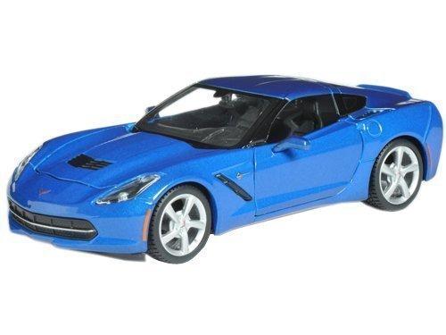 Maisto 2014 Chevrolet Corvette C7 Coupe Blue 1/24 Model Car - 24 Scale Corvette Coupe