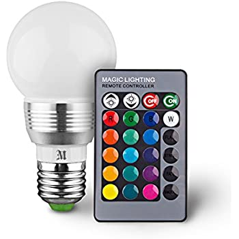 KOBRA Retro LED Color Changing Light Bulb with Remote Control- 16 Different Color Choices Smooth, Flash or Strobe Mode- Premium Quality & Energy Saving Lamps- Great For Decoration Parties & More