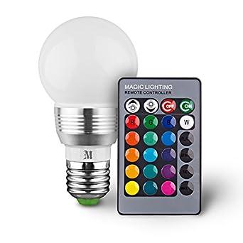 kobra retro led color changing light bulb with remote control 16 different c. Black Bedroom Furniture Sets. Home Design Ideas