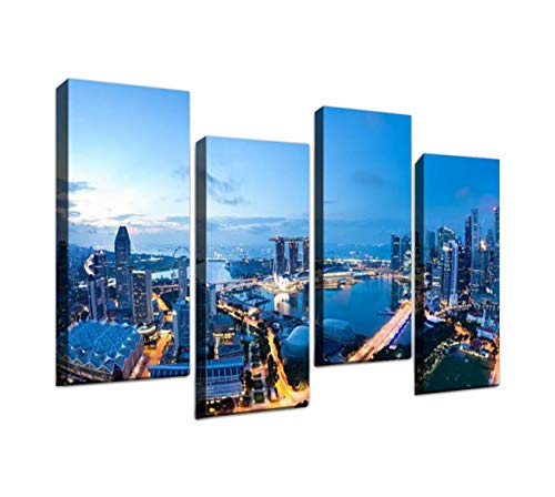 Halloween Contact Lens Singapore (4 Panel Singapore Panorama singapores and Pictures Canvas Wall Art Ocean Oil Painting Animal Prints City Poster Flower Pictures Home Wall Decoration for)