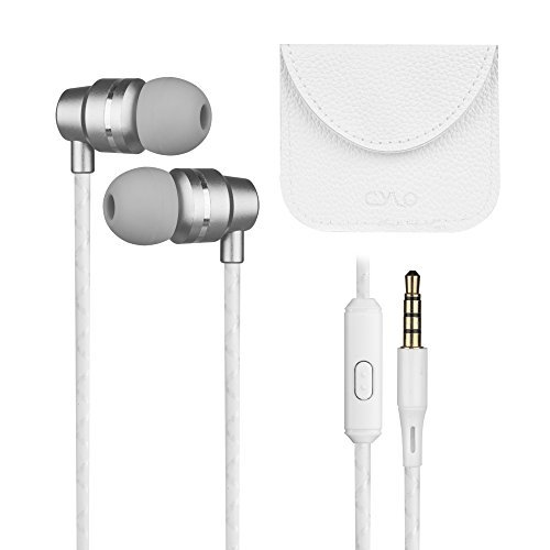 CYLO HAUTE Whole-Note Wired In-Ear Earbuds/Earphones/Headphones with Remote and Microphone, Stylish Design with Aluminum Casing and Hi-Fi Stereo Sound With Carrying Case (Silver)