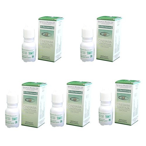 Schwabe Cineraria Maritima Eye Drops Without Alcohol 10ml (Pack of 5)