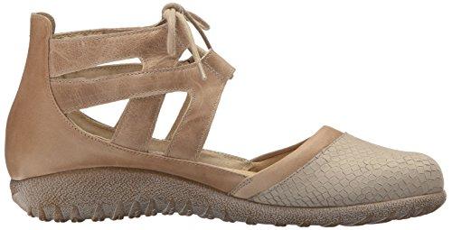 Naot Chaussures Femmes Kata Beige Iguane Nubuck / Kaki Beige Cuir / Arizona Tan Cuir