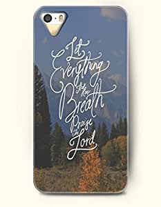 iPhone 5 / 5s Case Let Everything That Has Breath Praise The Lord - Mountains - Hard Back Plastic Case - OOFIT Authentic