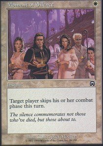Magic: the Gathering - Moment of Silence - Mercadian Masques - Foil