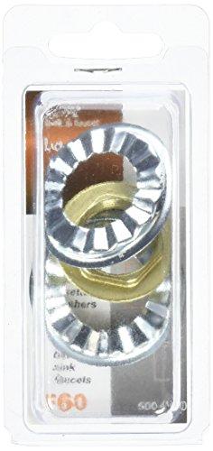 Ldr Faucet Lavatory (LDR 500 4160 1/2-Inch Fip Plastic Faucet Locknuts with Rosettes)