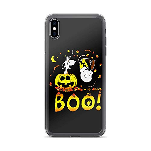 iPhone Xs Max Pure Clear Case Cases Cover Charlie and Snoopy Dog Halloween Boo]()