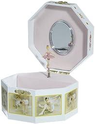 MusicBox Kingdom 28002 Octagonal Musical Jewelry Box, Playing \