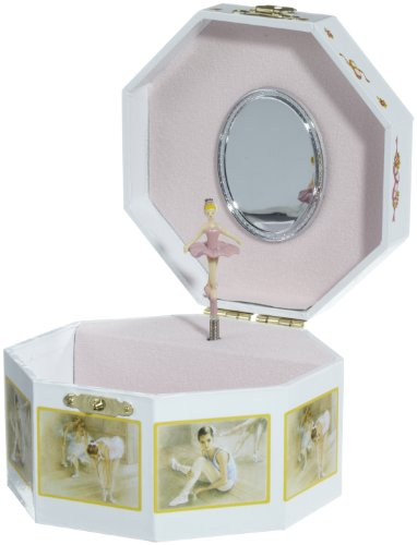 MusicBox Kingdom 28002 Octagonal Musical Jewelry Box, Playing