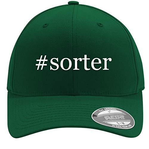 #sorter - Adult Men's Hashtag Flexfit Baseball Hat Cap, Forest, Large/X-Large (Accuwrapper Coin Sorter)