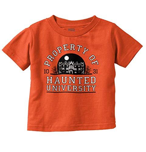 Brisco Brands Haunted University College Halloween Scary Infant Toddler T Shirt Orange ()