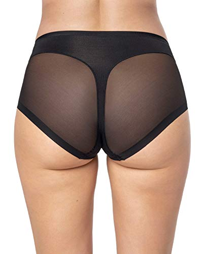 Leonisa Women's Seamless Tummy Control Rear Lifting Panty Shaper,Black,X-Large