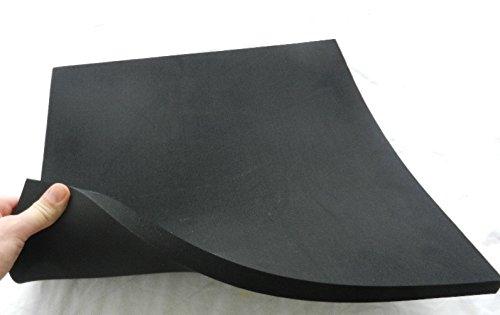 40 x 40 x 2 cm si/ège de moto Dimensions Noir Caoutchouc de cellulose en caoutchouc moos