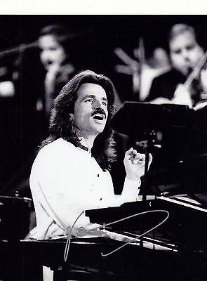 Yanni Signed 8x10 Photo W/COA Dare to Dream In My Time Live
