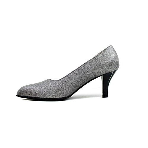 Beautifeel Womens Passionen Klänning Mid Häl Pump Metallic Glittrade Läder