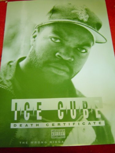 ICE CUBE DEATH CERTIFICATE 1990\'S 33 X 23 approx INCHES POSTER ...
