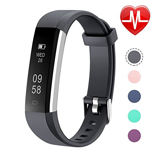 - Letsfit Fitness Tracker, Slim Activity Tracker with Heart Rate Monitor, Pedometer Watch, Sleep Monitor, Step Counter, Calorie Counter, Waterproof Fitness Band for Kids Women and Men (Black)