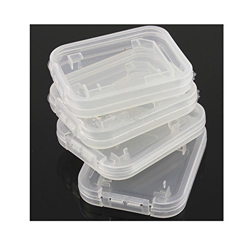 JXULE Transparent Standard SD SDHC Memory Card Case Holder Box Storage boxes (pack of 10) (Memory Box Cards)
