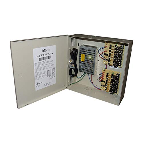 (IC Realtime PWR-16DC-8A Ic Real-time 16 Channel Fused Power Distribution Box, 12Vdc, 8 Amps Total, Ul Listed)