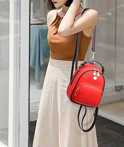 Lemon Leather Red Daypack School Backpack Handbags Backpack Bags Women's Bag Laptop Shoulder PU xnPTf7v