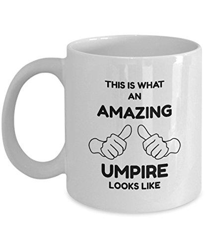 Umpires Chair Tennis (Umpire Mug - This Is What An Amazing Umpire Looks Like - 11oz Ceramic White Novelty Coffee Mug)