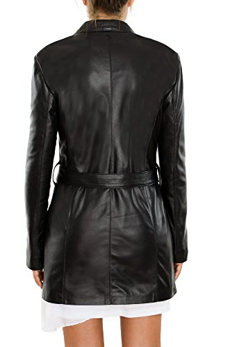 Mujer Abrigo De Cuero Flire Negro Pellein Para BqHSPwECx