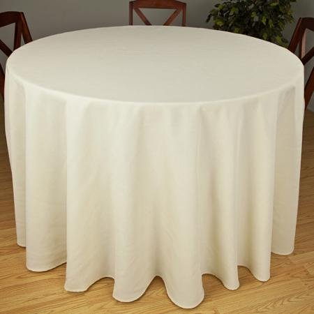 Riegel Premier Hotel Quality Tablecloth, 132'' Round, Ivory by riegel