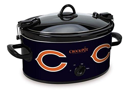 - Crock-Pot Chicago Bears NFL 6-Quart Cook & Carry Slow Cooker