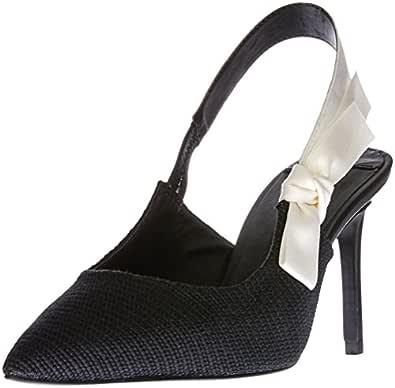 TONY BIANCO Women's Evita Court Shoes, Black (Black Osaka), 5 US