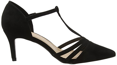 New Look Women's Wide Foot Shebar Ankle Strap Heels Black (Black 1) I2jOCQn4