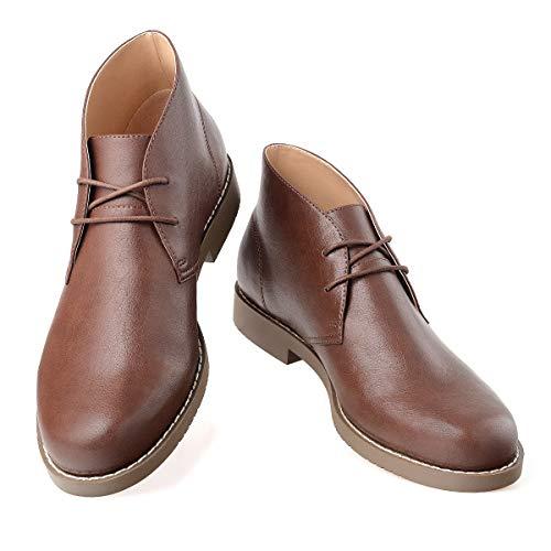 GM GOLAIMAN Men's Desert Chukka Boots Ankle-2-Eyelet Lace Up Work Boots Round Toe Walking Boot Dark Brown 11 D (M) - Walking Lightweight Boots