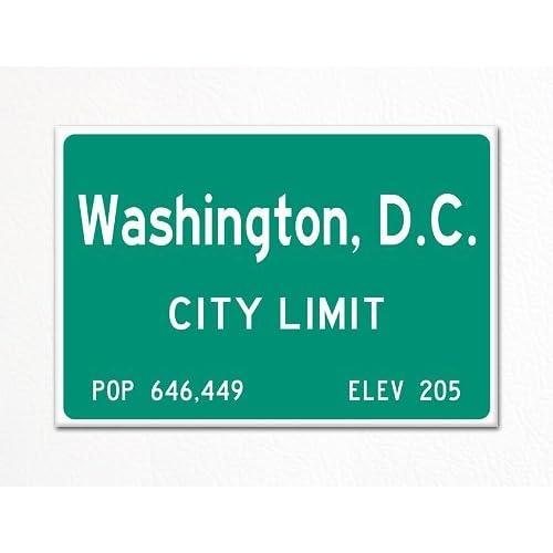 Washington, D.C. City Limit Sign Souvenir Fridge Magnet