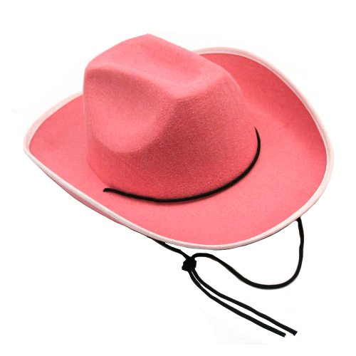 US Toy - H373 Cowboy Hat-Pink, Made of felt, Opening Size: 25