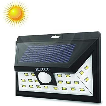 9cgogo Motion Sensor Lights Wireless 24leds Solar Lights