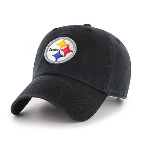 NFL Pittsburgh Steelers OTS Challenger Adjustable Hat, Black, One Size
