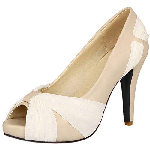 Heel Women Fashion Beige High Dress Lady Chila Zuban Shoes Footwear wA7qAt5