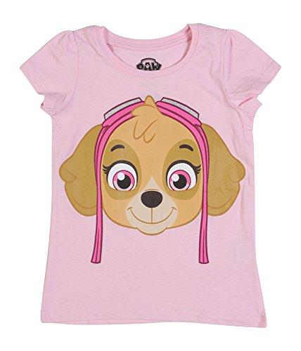 [Paw Patrol  Toddler Girls' Short Sleeve T-Shirt Shirt, Pink Skye, 3T] (Paw Patrol Costumes Skye)