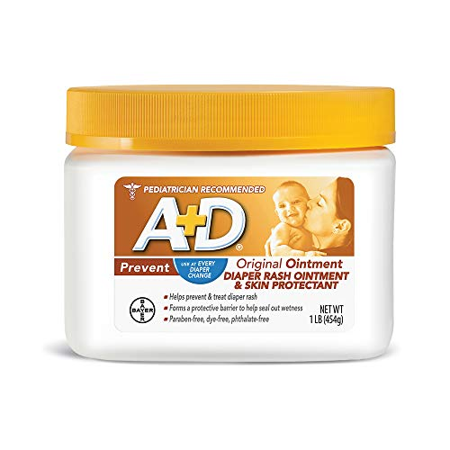 A+D Original Diaper Rash Ointment, Skin Protectant With Lanolin and Petrolatum, Seals Out Wetness, Helps Prevent Baby Diaper Rash, 1 Pound Jar. 1 Lb Gift Jar