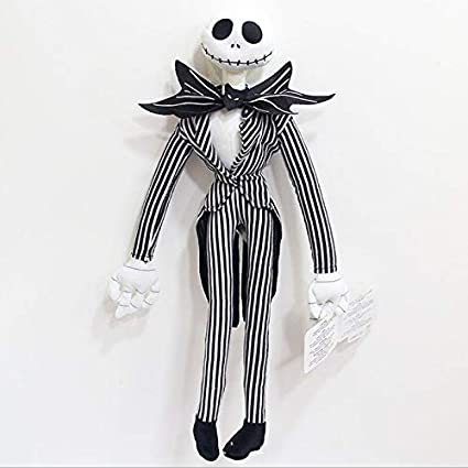 Funny The Nightmare Before Christmas -Jack Skellington Plush Doll Peluche Stuffed